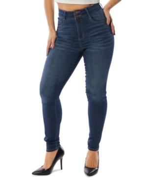 Juniors' High-Rise Curvy-Fit Skinny Jeans