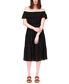 Tiered Off-The-Shoulder Dress, Regular & Petite Sizes