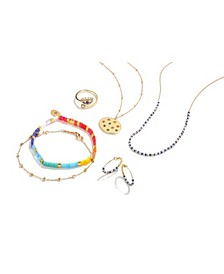 Multi Color Jewelry Collection in Fine Silver Plate or Gold Plate