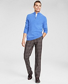 Men's Cashmere Quarter-Zip Sweater, Created for Macy's