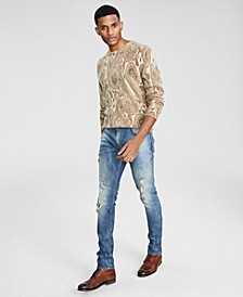 Men's Paisley Cashmere Sweater, Created for Macy's