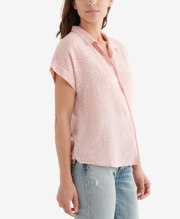 Lucky Brand Printed Button-Front Shirt & Reviews - Tops - Women - Macy's