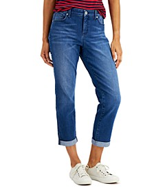 Petite Straight-Leg Girlfriend Jeans, Created For Macy's