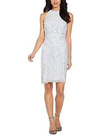 Sequined Halter Sheath Dress