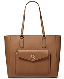 Joey Large Leather Pocket Tote