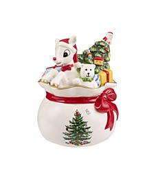 Christmas Tree Rudolph Candy Bowl