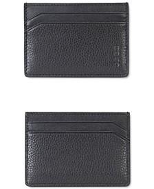 HUGO Men's Subway Pebbled Leather Cardholder