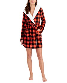 Hooded Short Cozy Robe, Created for Macy's