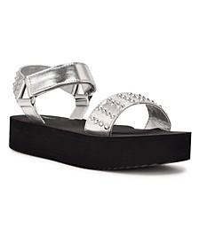 Women's Comehere Studded Platform Sandals