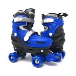 Chicago Skates Kids Adjustable Quad Rollerblade Set, 7 Pieces
