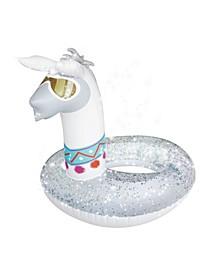 inflatable Glitter Llama Pool Float Ring