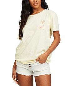 Juniors' Sunny Palms T-Shirt