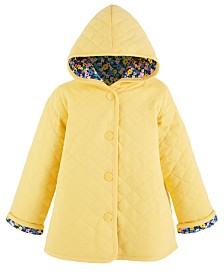 Baby Girls Quilted Floral Jacket, Created for Macy's
