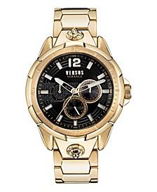 Versus Men's Runyon Gold-Tone Stainless Steel Bracelet Watch 44mm