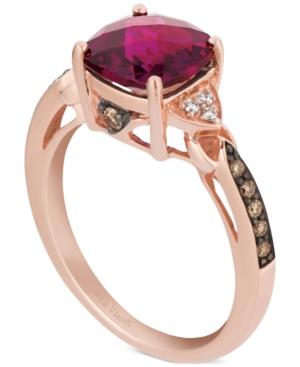 Raspberry Rhodolite (2-3/8 ct. t.w.) & Diamond (1/6 ct. t.w.) Ring in 14k Rose Gold