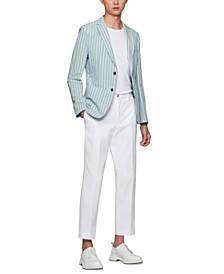 BOSS Men's Striped Slim-Fit Jacket