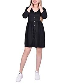 Women's 3/4 Sleeve A Line Ponte Dress