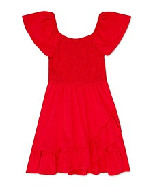 Big Girls Smocked Ruffle Hem Dress