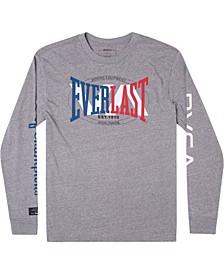 Men's Everlast Stack Patch Screen Print Long Sleeve T-shirt