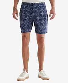 Men's Printed Flat Front Short