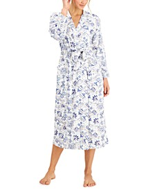 Brushed Cotton Knit Wrap Robe, Created for Macy's