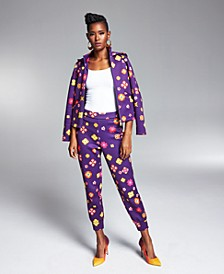 Misa Hylton Floral-Print Jogger Pants, Created for Macy's