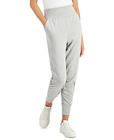 Petite High-Waisted French Terry Jogger Pants, Created for Macy's