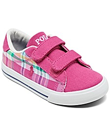 Toddler Girls' Easten II EZ Plaid Casual Sneakers from Finish Line