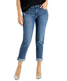 Petite Cuffed Boyfriend Jeans, Created for Macy's