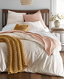 Printed Beaded Stitch Duvet Cover Sets, Created for Macy's