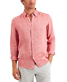 Men's Long Sleeve Linen Shirt