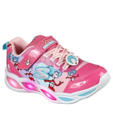 Little Girls Shimmer Beams Fun time Dr. Seuss with Things Running Sneakers from Finish Line