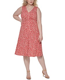Plus Size Pleated-Front Dress