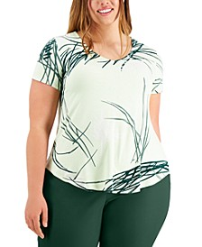 Plus Size Printed V-Neck T-Shirt, Created for Macy's