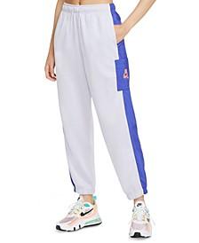 Plus Size Cotton Drawstring Jogging Pants