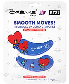 BT21 Smooth Moves! Tata Plumping & Smoothing Hydrogel Under Eye Patches, 4-Pk.