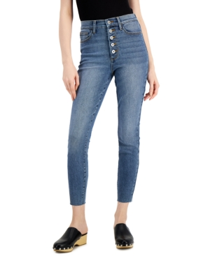 Juniors' Button-Fly Skinny Jeans