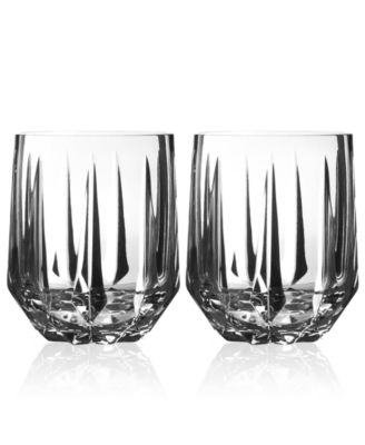 Peplum Set of 2 Double Old Fashioned Glasses