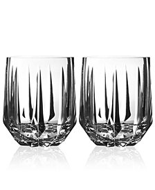 Vera Wang Wedgwood Peplum Set of 2 Double Old Fashioned Glasses