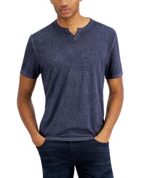 Men's Split-Neck T-Shirt