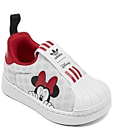 Toddler Girls Superstar 360 X Minnie Mouse Slip-On Casual Sneakers from Finish Line