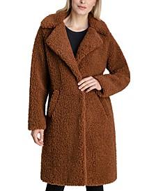 Notch-Collar Teddy Coat, Created for Macy's