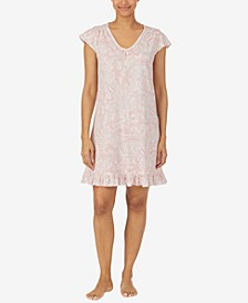 Ruffle Hem Short Sleep Dress