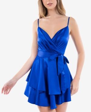 Juniors' Surplice A-Line Dress