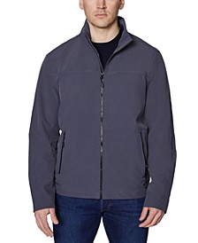 Men's Big and Tall Poly Zip Front Jacket