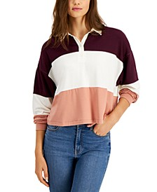 Juniors' Colorblocked Rugby Henley Top