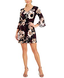 Petite Bell-Sleeve Fit & Flare Dress