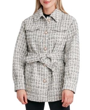 Embellished Tweed Shirt Jacket