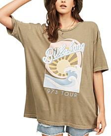 Juniors' Stay Wavy Baby Cotton T-Shirt