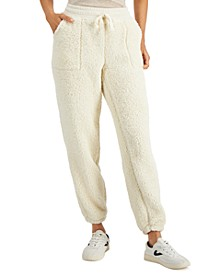 Faux-Sherpa Utility Sweatpants, Created for Macy's